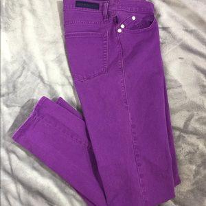 Rock & Republic Purple Berlin Str leg Jeans Sz 12